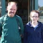 Vet Richard Hurley with Ruth O'Connell who is on work experience at the practice in Rock Street/Brewery Road. Photo by Gavin O'Connor